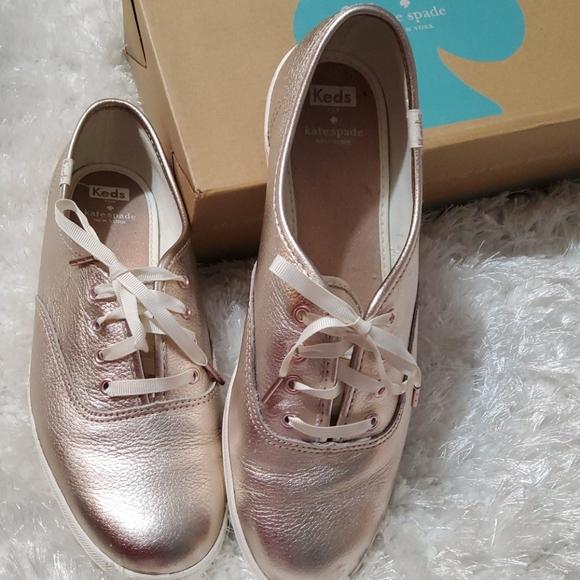 Keds rose gold Kate Spade shoes size 8 worn twice